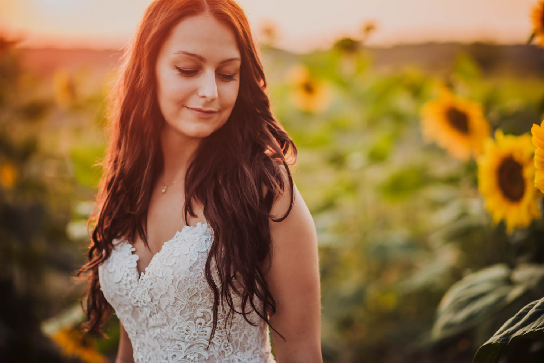 sesja zdjeciowa słoneczniki Felix de Vega fotografia ślubna