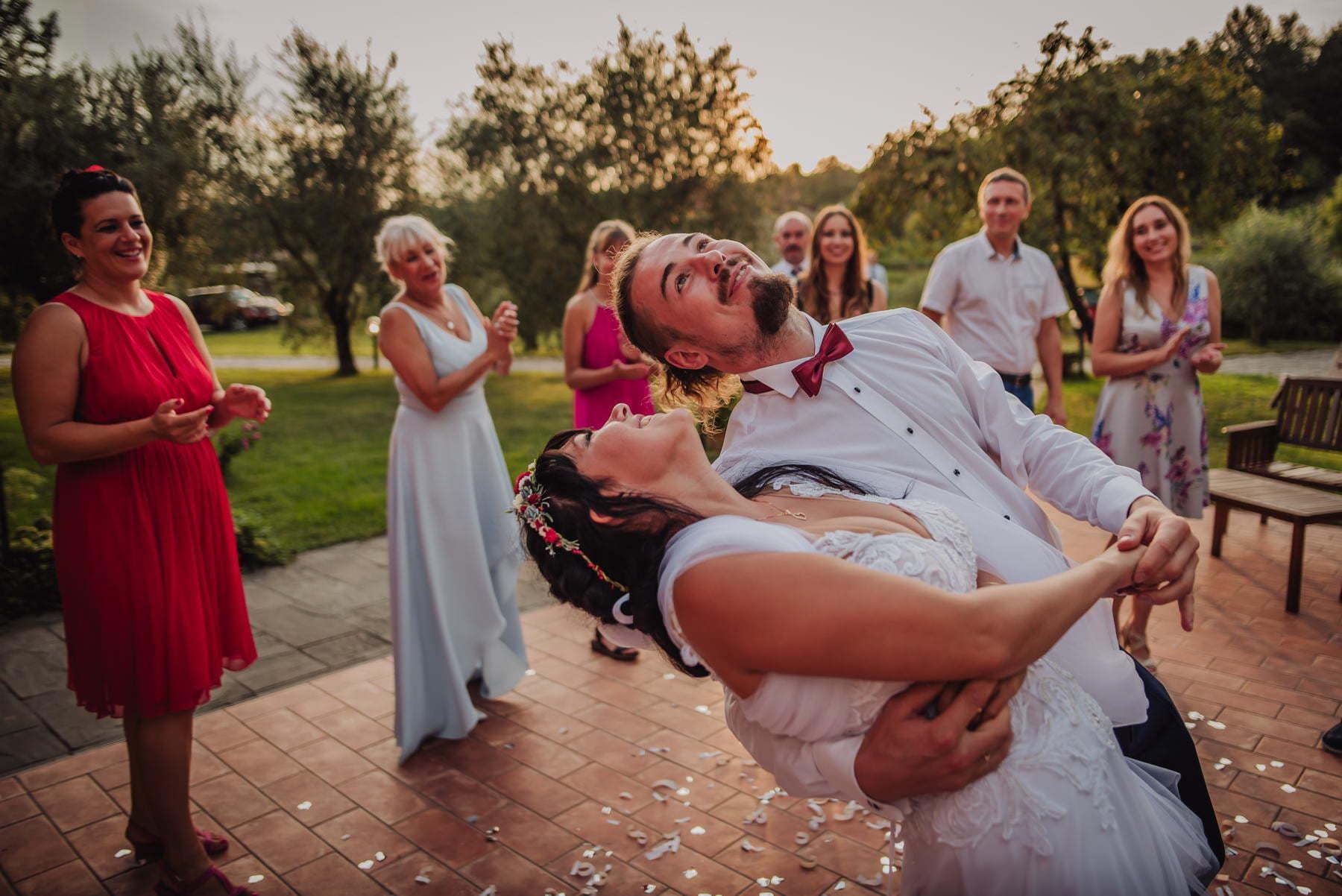 wedding dance on polish wedding in Italy