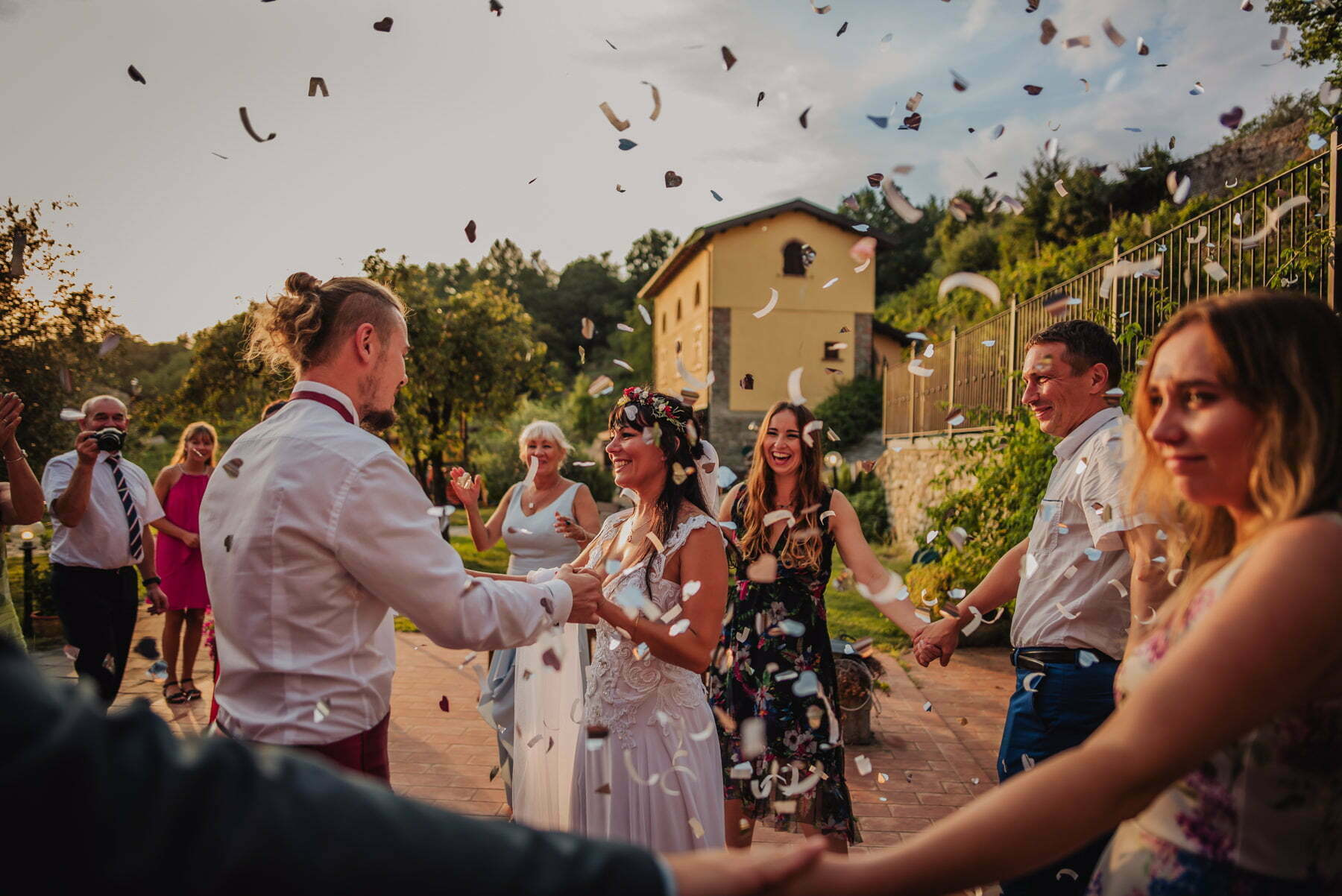 first dance during Cinque Terre wedding