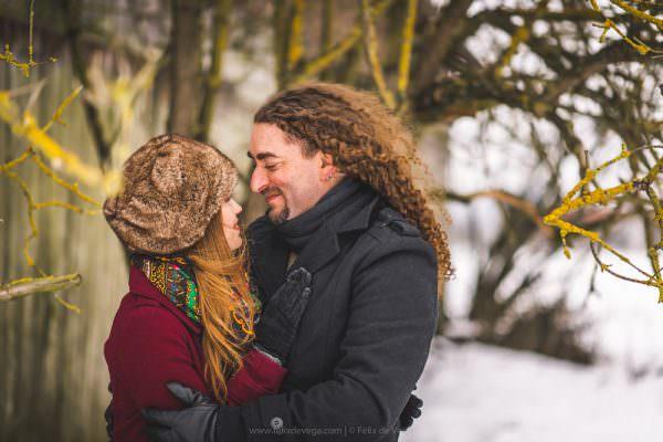 Winter engagement wedding photographer Poland