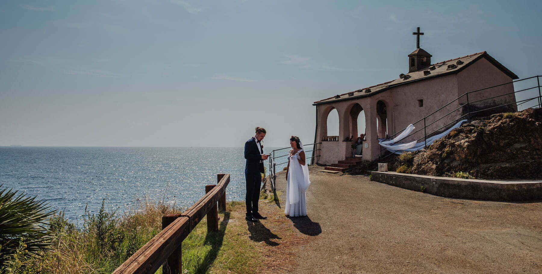 bride and groom at destination wedding Italy