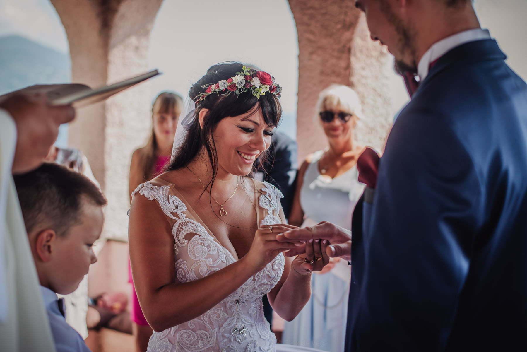 ślub we włoszech - zakładanie obrączek